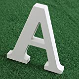 Letras madera blancas alfabeto,Alfabeto de madera blanca pura A-Z Decoraciones modernas Para la boda...