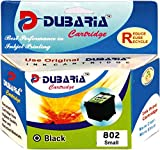 #7: Dubaria 802 Black Ink Cartridge For Use In HP Deskjet 1000, 1010, 1011, 1050, 1510, 1511, 2000, 2050, 3050, J210, J310, J610 (CH562ZZ )