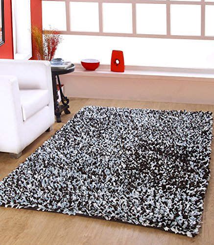 Christmas & New Year 2017 Carnival...CENTRA HOME PAPER SHAG COLLECTION... Handmade Rug Make You feels Elegance, Soft & Rich 3.6*5.6ft -Brown/Blue