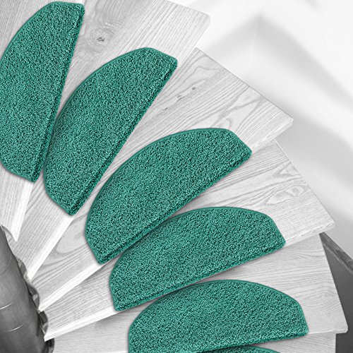 Shaggy Stufenmatten Premium S Line | 15 Stück Set | Türkis