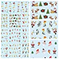 Bluelover Christmas Santa Schneemann Nail Art Sticker Water Transfer Aufkleber