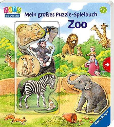Mein großes Puzzle-Spielbuch Zoo (Tier Spiele Zoo)