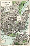 MAP ANTIQUE 1898 KIESSLING POTSDAM CITY PLAN LARGE REPLICA