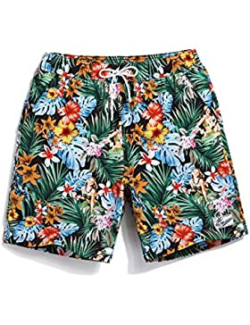 HAIYOUVK High-End Four-Faced Beach Pants Male Large Size Loose Casual Shorts Seaside Holiday Men'S Swim Trunks...