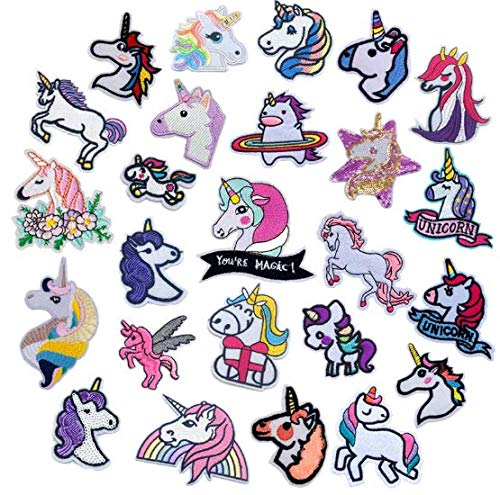 Naler 25 Parches Unicornio Ropa Termoadhesivos Parches