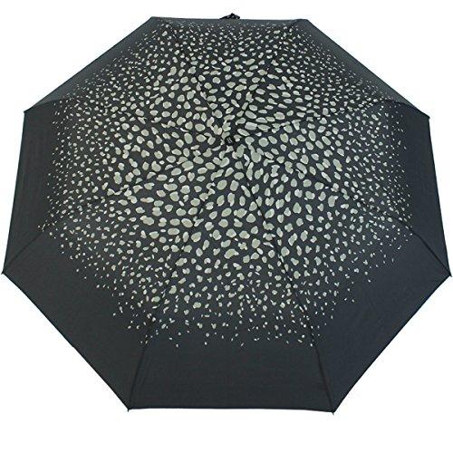pierre-cardin-parapluie-easymatic-nude-light-pour-femme-noir-a-pois