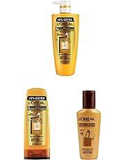 L'Oreal Paris Hex 6 Oil Shampoo, 640ml+L'Oreal Paris Lp Hex 6 Oil Conditioner, 175ml+L'Oreal Paris Smooth Intense Instant Smoothing Serum, 100ml