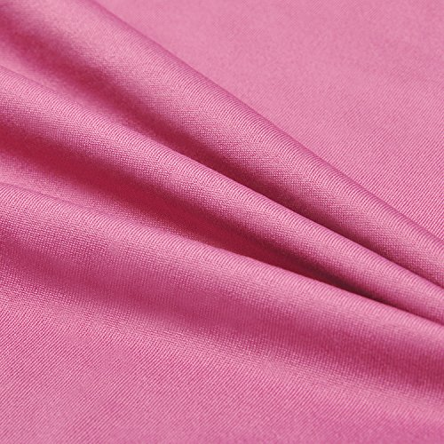 SYROKAN Damen Sport T-shirt Tank Top - Ringerrücken Gym Elastische Fitness Rosa