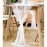 Aparty4u 70x300cm weiß Spitze Tischläufer Classy Blumen Tischläufer für Boho Thema Hochzeit Festival Weihnachten Party Home Dekorationen