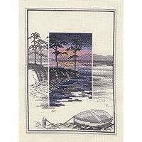 Derwentwater Sunsets serie Pinetree Bay-Kit per punto croce, motivo: tela aida a 16 punti, vuota