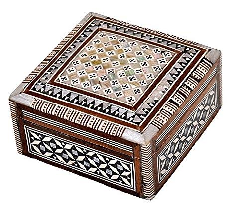 Boîte à bijoux Mosaïque égyptien BX4 en