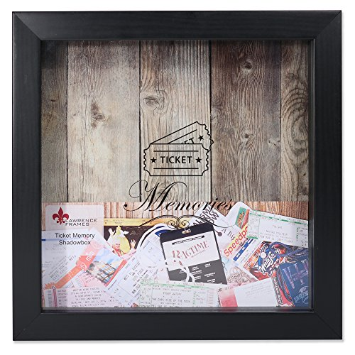 Lawrence Frames Shadow Box Etikettenhalter, schwarz, 10x 10