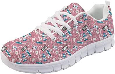 Coloranimal Road Running Womens scarpe leggere stringate Air Mesh scarpe basse