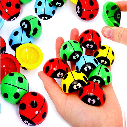 German Trendseller 6 x Mr. Lady Bug - Hüpfer für Kinder ★ Neu ★ ┃ Kindergeburtstags Mix ┃ Super Sprungkraft ✔ ┃ Bunte Farben ┃ 6 Stück (Womens Popper)