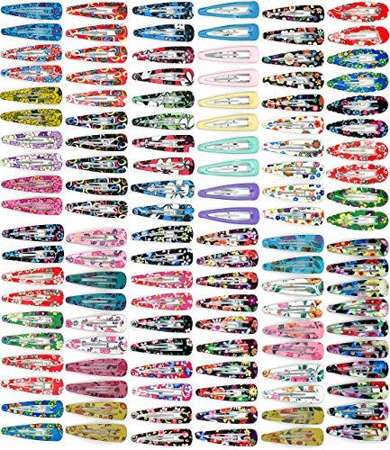 120 barrettes - en partie de 2nd choix, (120 * 10 barettes = 120 pièces) 4,7 cm x 1,3 cm, pince à cheveux, barrettes clic clac, bijoux de cheveux