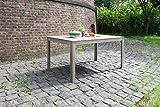 greemotion 128669 Gartentisch MAUI aus Holz-Esstisch Garten, Terrasse & Balkon-Holztisch rechteckig aus Akazie massiv-Tisch wetterfest für draußen, Grau, 150 x 75 x 90 cm Test
