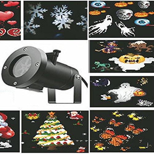 IAGM LED Proiettore Luci Natale 16 modelli fiocchi di neve impermeabili, luci esterne, luci di Natale, luci di Halloween, luci del prato