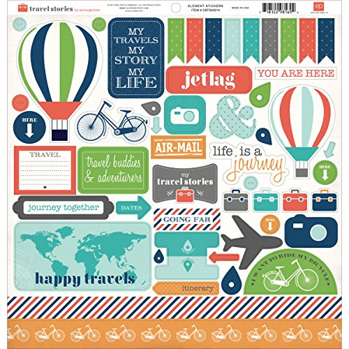 Paper Accents Cardstock (Travel Stories Cardstock Stickers 12