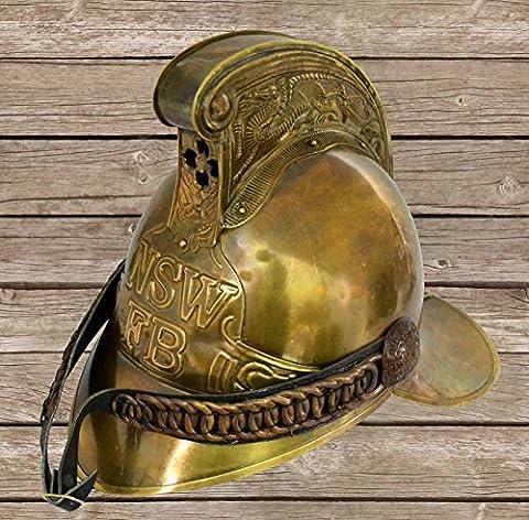 historicalmuseumstore Vintage Brass Firemen Helmet Merryweather Helmets Victorian