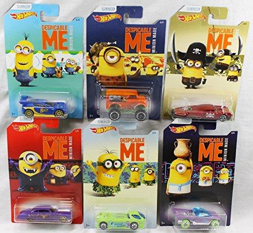 Mattel Hot Wheels DWF12 Limited Car Minions, je 1 Fahrzeug, zufällige Auswahl