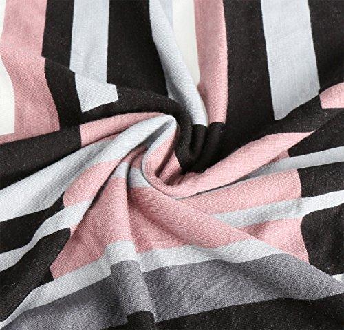 KorMei -  Vestito  - linea ad a - A stelle - Collo a U  - Maniche lunghe  - Donna Multicolore
