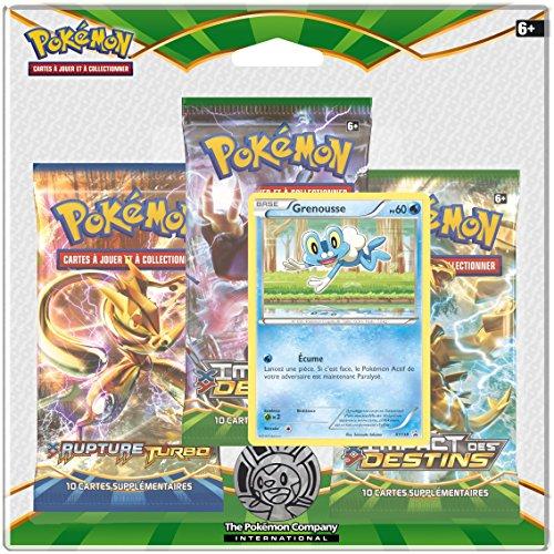 Asmodée - 3PACK01XY10 - Pokémon - Impact des Destins - Pack de 3 Boosters