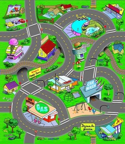Spielteppich mit Straen inkl. 1 Auto