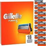 Gillette Fusion 5 scheermesjes, 18 reservemesjes voor nat scheermes heren met 5-voudig lemmet