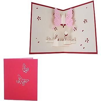 Manyo 3d Pop Up Handgemachte Einladungskarten Geburtstag Mit
