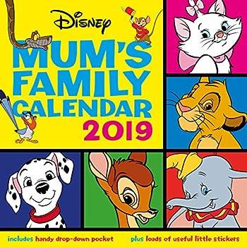 Disney Classic Mums Family Calendar Official 2019 Calendar - Square Wall Calendar Format