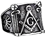 Inception Pro Infinite Slmsn - Anillo - Man - Master Mason - Masonic Lodge - Sun - Compass - Equipo (ES 35)