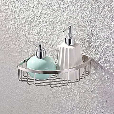 KES A2123A-2 Bathroom Corner Triangular Tub and Shower Caddy Basket,