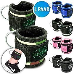 CPSports Premium Wrist Strap, Foot Strap, Foot Straps Fitness, Foot Strap Sub, Straps Cord Cable (Black)
