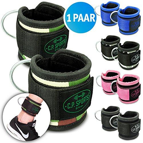 C.P.Sports Premium Hand- und Fußschlaufe, Fußschlaufen Fitness, Fußschlaufe Sub, Fußschlaufen Kabelzug (Schwarz) -