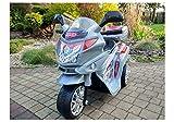 Lean Toys Elektromotorrad für Kinder HC8051 Silbern