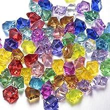FUNLAVIE Multicolor acrílico diamantes Pirata Tesoro Pirata joyas para fiesta suministros decoración, disfraz Stage Props, jarrón de regalo