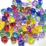 Multi-Colored Acrylic Diamonds Pirate Treasure Jewels for Party Supplies Decorations/Costume Stage Props/Vase Fillers/Wedding Decorations -60pcs by FUNLAVIE