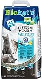 Biokat's Diamond Care Multicat Fresh Katzenstreu mit Duft | staubfreie Klumpstreu mit Aktivkohle und Cotton Blossom Duft
