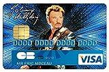 Deco-idees Stickers Autocollant pour Carte bancaire, Johnny Hallyday, Edit. Limitée 300 ex - Autocollant de Haute qualité - thelittleboutique Nice
