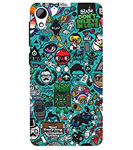Chiraiyaa Designer Printed Premium Back Cover Case for HTC Desire 628 (cartoon pattern) (Multicolor)