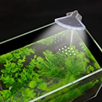 VENUS AQUA® Aquarium Fish Tank Corner LED Light US 5W 12 LED Fan Shaped Aquarium Planted Clip Lamp 600LM for 6-12 Inch…