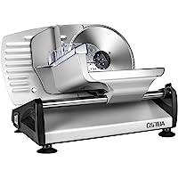 Affettatrice, affettatrice elettrica acciaio inossidabile, metallo, colore argento, spessore max 15 mm affettatrice…