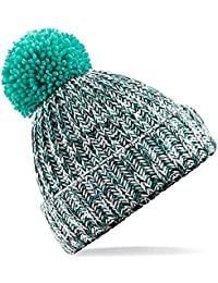 60fad17db22 4sold Mens Womens Beanie Warm Winter Corkscrew Cable Knitted Bobble Hat  Plain Ski Pom Wooly Cap