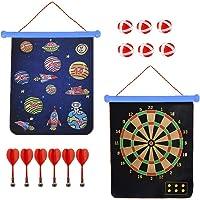 Wuudi Magnetisches Dartscheiben Set Sicheres Doppelseitige Dartspiel 15 Inch für Kinder Dartboard mit 6 Dartpfeile und 6…
