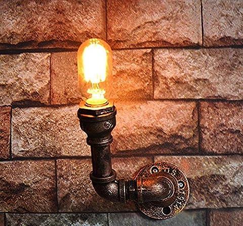 BD-Industrielle Stahlrohr Metall Wand Lampe Vintage Edison Retro Steampunk Wand Licht Wasser Rohr Wandleuchte