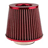 #4: Generic Automotive Air Filter Round Tapered Universal Cold Air Intake - red