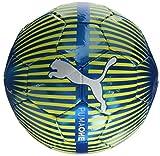 PUMA One Chrome Ball Fußball, Atomic Blue White-Safety Yellow, 5