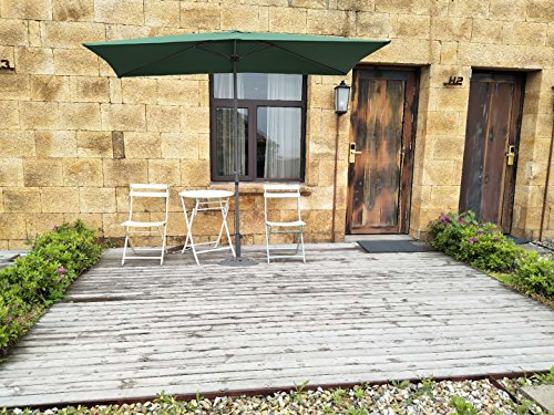 Angel Living 5812360 2x3M Aluminium Sonneschirm Sonnenschutz mit Crank Sun Shade für Garten Patio Möbel (Grün)