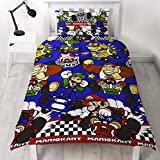 Parure de lit réversible pour lit simple/double, Nintendo Mario Kart Racer , multicolore, Single Duvet