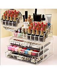 Cosmétique Organiseur tiroirs en acrylique Transparent Boîte à bijoux maquillage étui de rangement